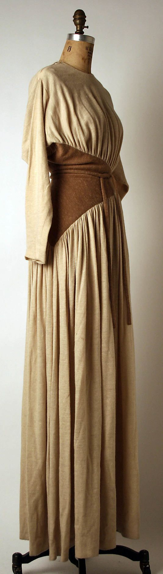 Evening dress Madame Grès (Alix Barton) (French, Paris 1903–1993 Var region) Date: ca. 1975 Culture: French Medium: wool