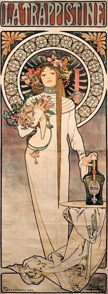Alphonse Mucha - Plakat La Trappistine
