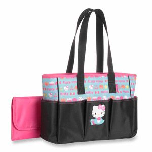 Sanrio Hello Kitty Tote Diaper Bag. This is my lil mama's bag!