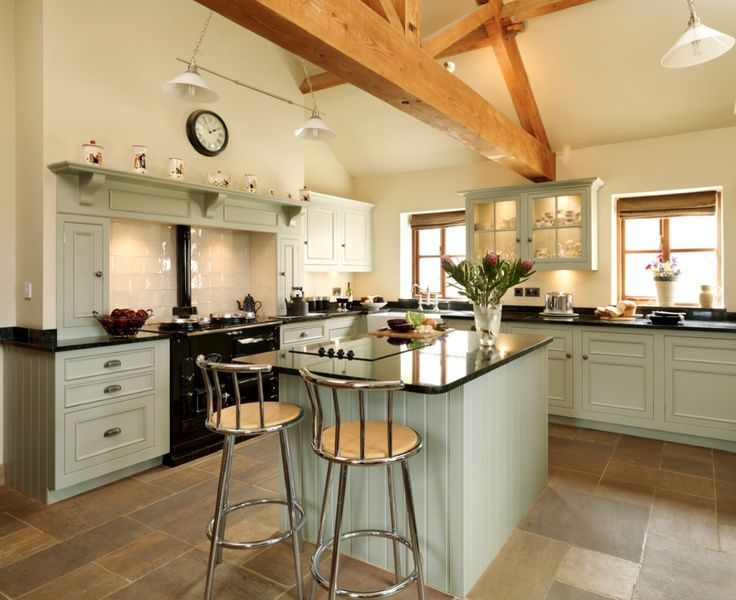 Gorgeous Harvey Jones kitchen in Farrow and Ball French Gray paint. Full details on Modern Country Style blog: Colour Study: Farrow and Ball French Grey in interiors