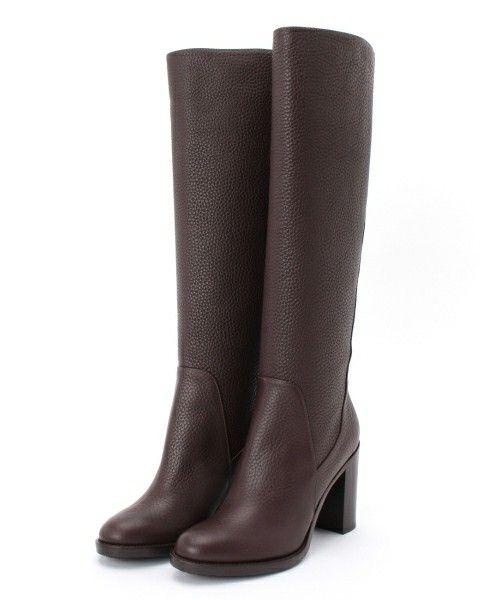 DRESSTERIOR(LADIES)(ドレステリアレディス)のAQUATALIA カーフレザーロングブーツ(ブーツ)|ブラウン