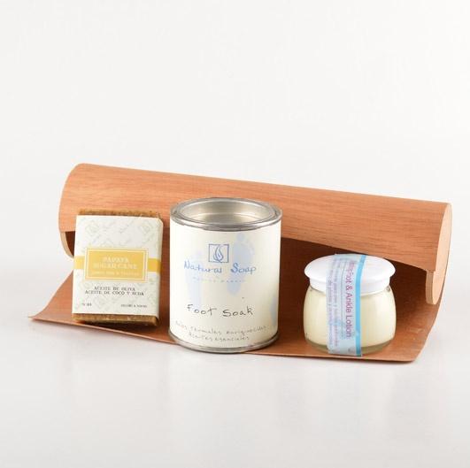 $9990 Pack Patagonika Natural Soap 3 piezas + linda caja