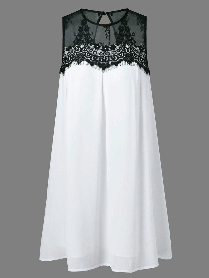 Lace Splicing Tent Dress