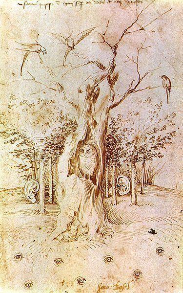 """Иероним Босх """"Слышащий лес и зрячее поле"""" 1500"""