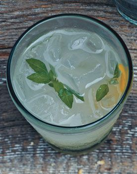 Basil Vodka Gimlets - Well worth the time to make the basil simple syrup. Absolutely delicious. The perfect summer drink. Be careful though! These go down really easy! I speak from experience.