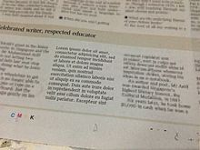 Latin filler text makes it into Singapore newspaper! Haha!