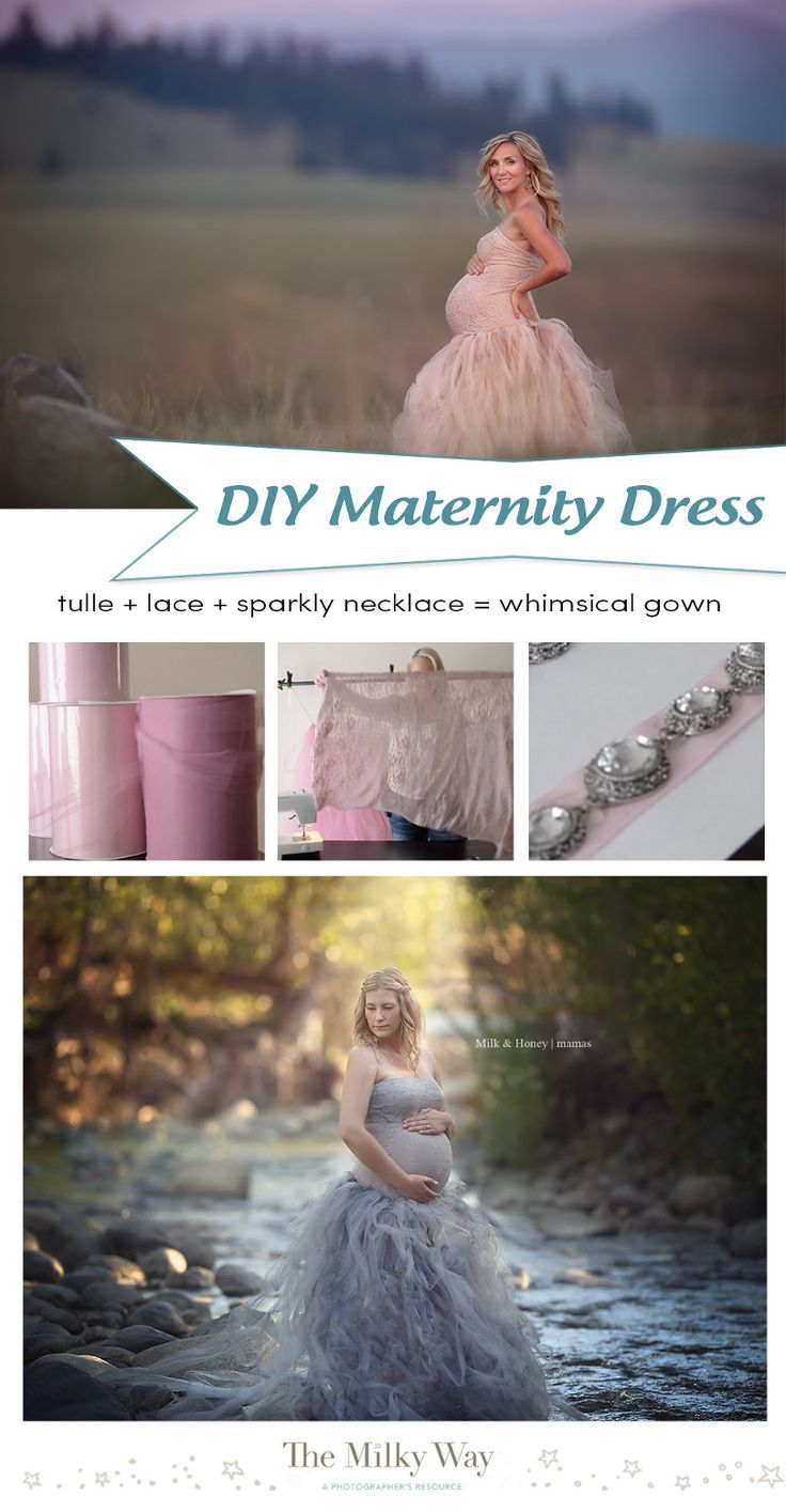 SUPER simple tutorial to make your own Maternity Dress for photography sessions!   » TheMilkyWay.ca