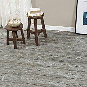 [neu.haus] Laminat Vinyl-Boden Eiche grau 1m² - PVC-Design-Bodenbelag mit gefühlsechter Holz-Struktur stark strukturiert Planken zum Kleben - 4 Dekor Dielen = 1,114 qm