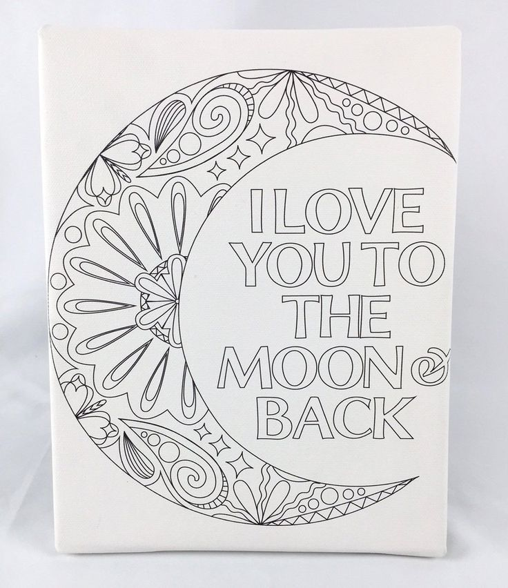 Amazon Adult Coloring Canvas Mandala Print 8 quot x 10