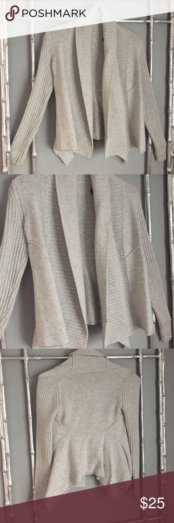 Armani Exchange grey cardigan sweater Beautybof a sweater. 48% wool. Asymmetrical style hem. Size small Armani Exchange Sweaters Cardigans
