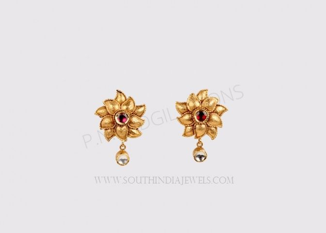 Daily Wear Gold Earrings Designs Collections Designer