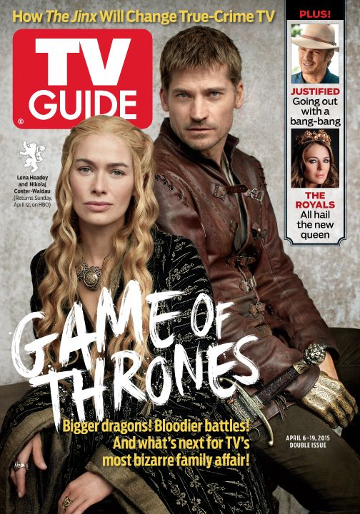 April 6/April 13, 2015. Lena Headey and Nikolaj Coster-Waldau of Game of Thrones