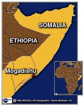 Mogadishu's Location on the coast of Swahili east Africa