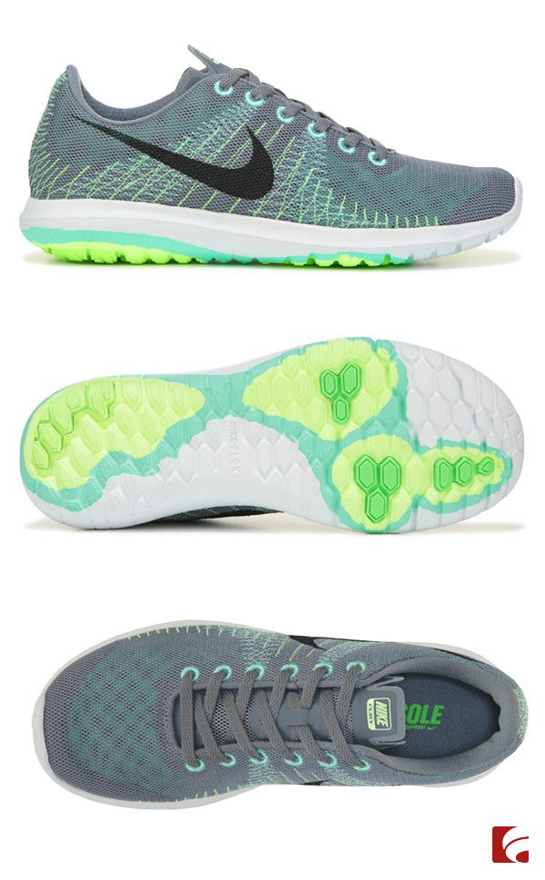Set your own pace in the Flex Fury athletic shoe from Nike. These adorable  running