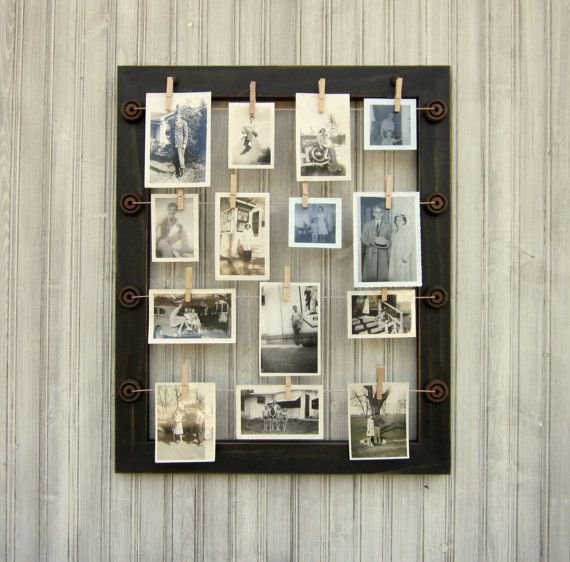 Photo frame with wire by SophieLaVae on Etsy