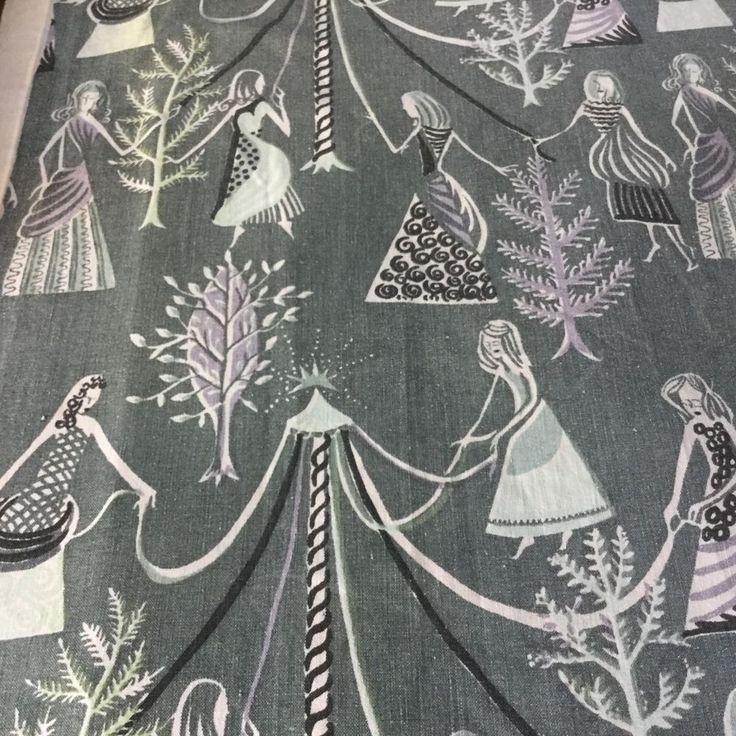 Vintage 1950s  Curtain Fabric Stig Lindberg?