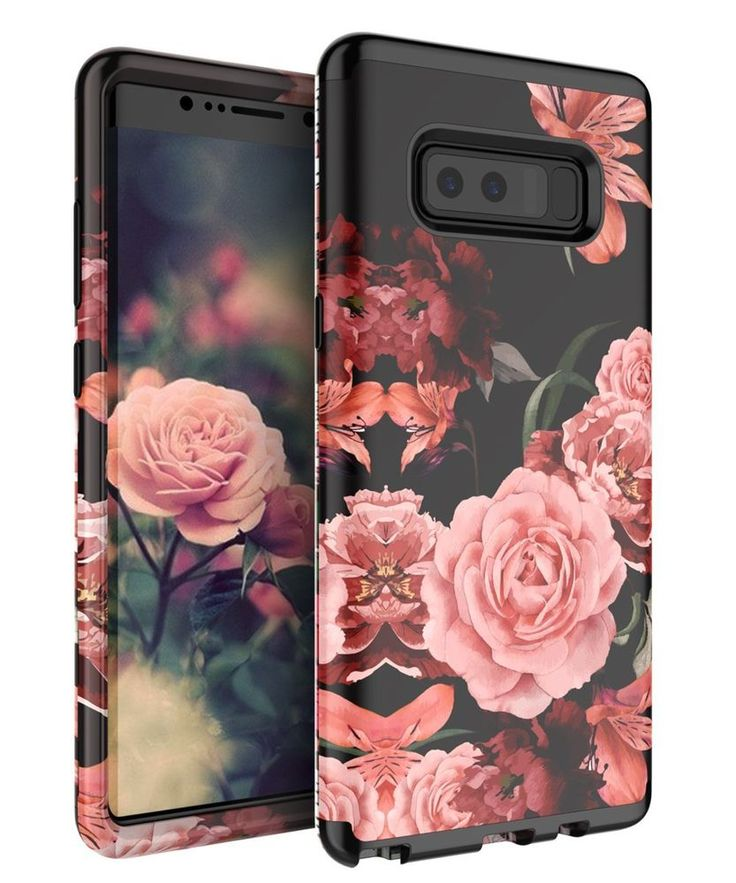 For Samsung Galaxy Note 8 Case Cute Flowers for Girls Women Smooth Surface Gift #TIANLI