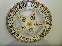 "Antique 24"" Star Gaming Wheel by SFA 