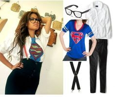 DIY Clark Kent Superman Halloween Costume Idea for Women
