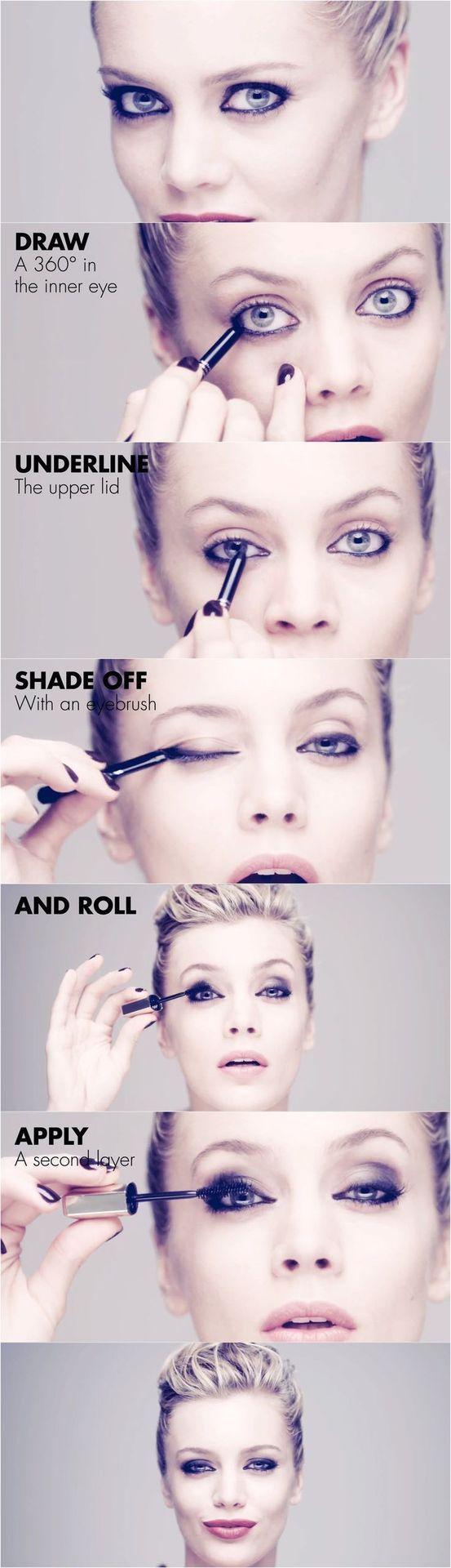 Easiest 5 minute eye makeup– How to do Dark Cat Eyes
