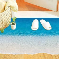 SHARE & Get it FREE   Chic Beach Pattern Removeable Floor StickersFor…