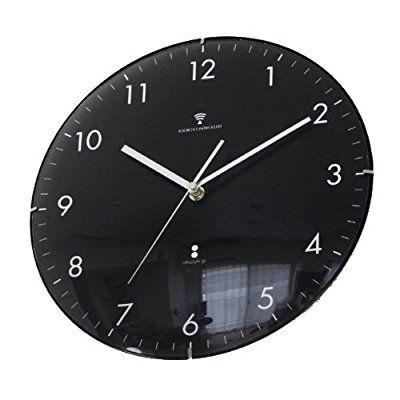 Amazon|ottostyle.jp 電波掛け時計 掛時計 【黒盤/ホワイトインデックス】 ドームガラス 見やすいシンプルな文字盤 連続秒針 サイレントムーブ 電波時計|置き時計・掛け時計 オンライン通販