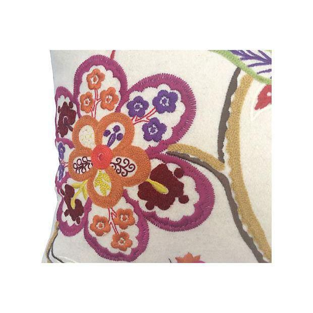 Pierre Frey Embroidered Floral Pillow - Image 2 of 6