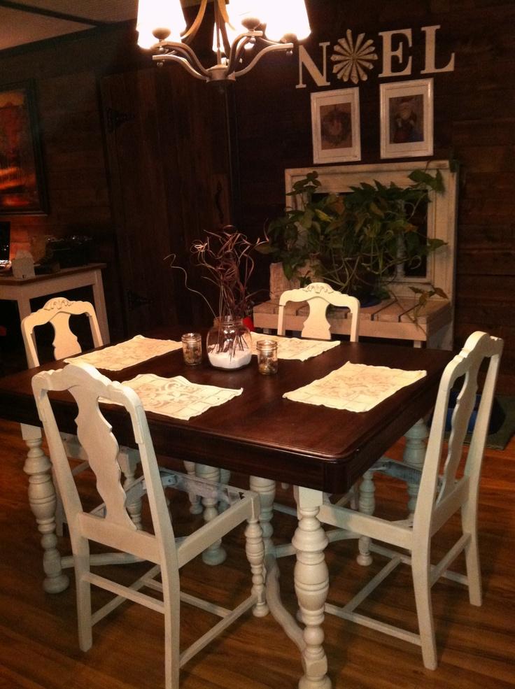 My Dinette Set MakeoverI Used Restore A Finish On The Top It SetsPainting FurnitureTeapotsDinnerwareDining TableDining