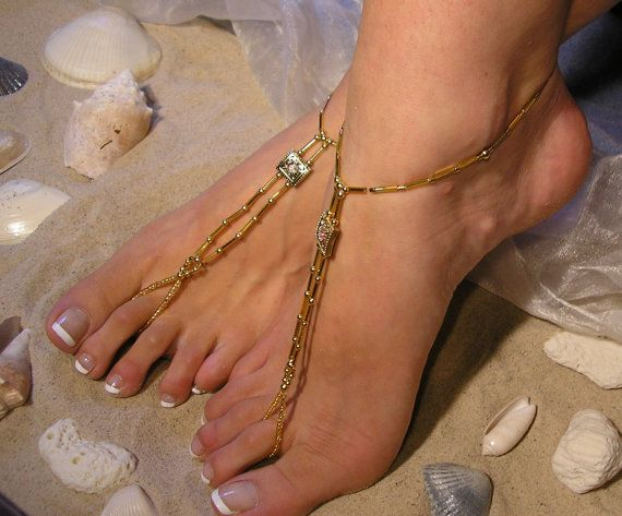 Happi Feet Handmade Pair Barefoot Sandals Nude Shoes by HappiFeet, $99.00