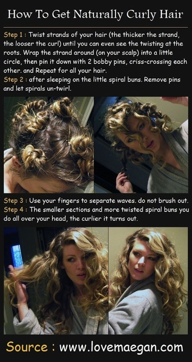 You can do these easy steps at night to have curls in the morning. | 17 Ways To Never Have A Bad Hair Day Again
