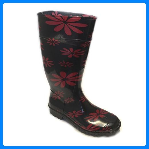 Gezer - Damen Gummistiefel Regenstiefel Gr. 36-40 Neu Schwarz 36 / 23 cm - Hausschuhe für frauen (*Partner-Link)