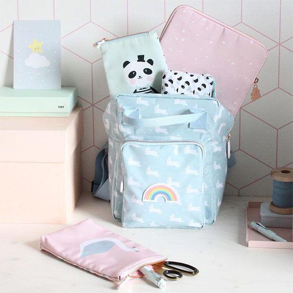 Eef Lillemor rugzak konijntjes blauw #backpack #bunny #pastel #bts # ...