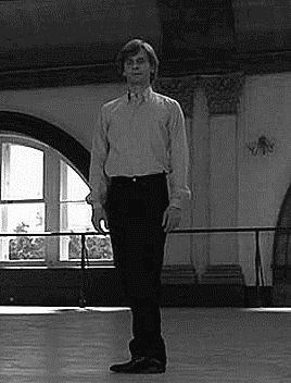 "theresalwaysdance: ""harrietvane: ""Mikhail Baryshnikov: 11 pirouettes in street clothes (White Nights, 1985) "" K """