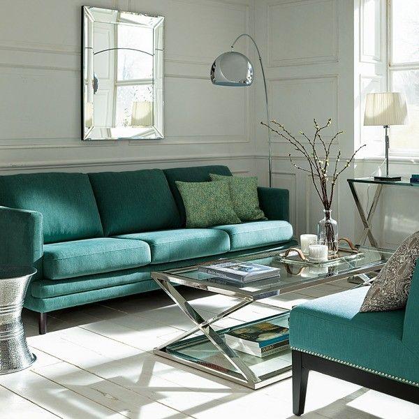 Catálogo 2016 El Corte inglés | muebles y decoración salon sofá verde