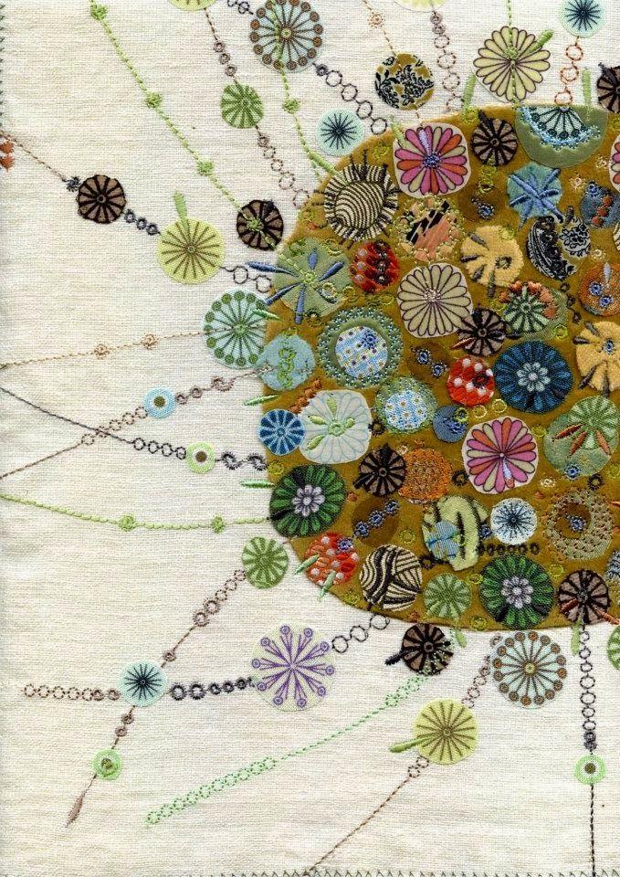Textile Design and Designer`s Platform - appliqué and embroidery