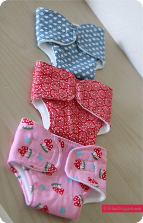 Free Sewing Pattern Doll Diapers by Leni Sun Bow