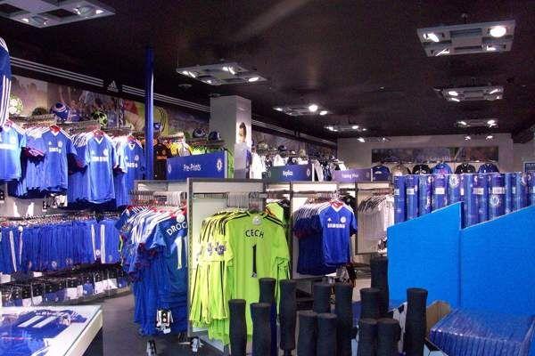 Chelsea FC Store lighting design by Stuart Moth, via Behance