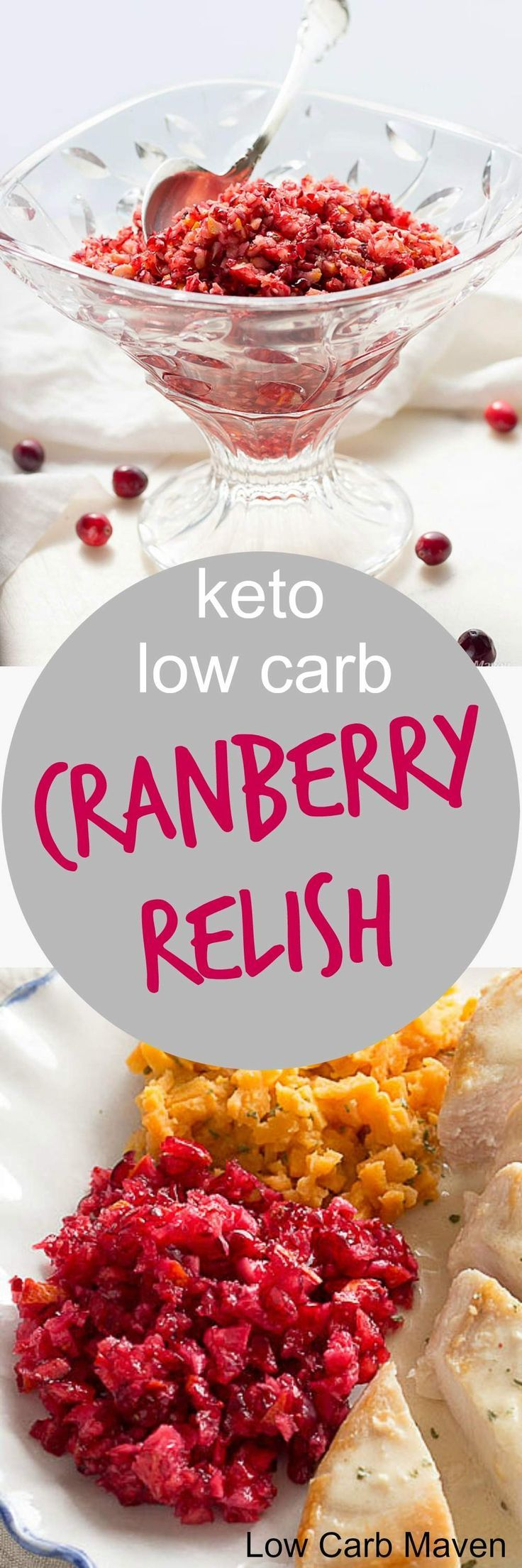 This fresh cranberry relish with orange is low carb for your keto Thansgiving menu.