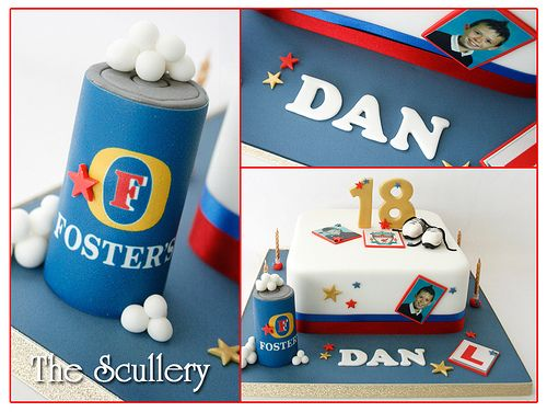 18th Fosters beer Can cake