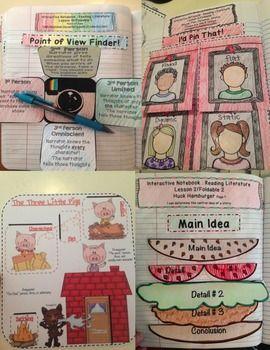 INTERACTIVE READING LITERATURE NOTEBOOKS ~ LITERARY TERMS FOR COMMON CORE 4-8 - TeachersPayTeachers.com