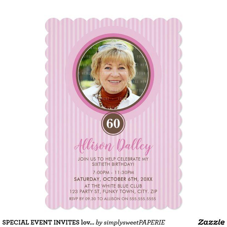 SPECIAL EVENT INVITES lovely photo spot pink #shopping  #birthdayinvitation #birthdayinvites #zazzlemade #zazzle #invites #invitations #manlyinvite #stylishinvitation #80thinvite #60thinvitation #50thinvitation