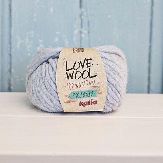 Love wool Yarn Wool & Alpaca light grey by Soulmadehome on Etsy