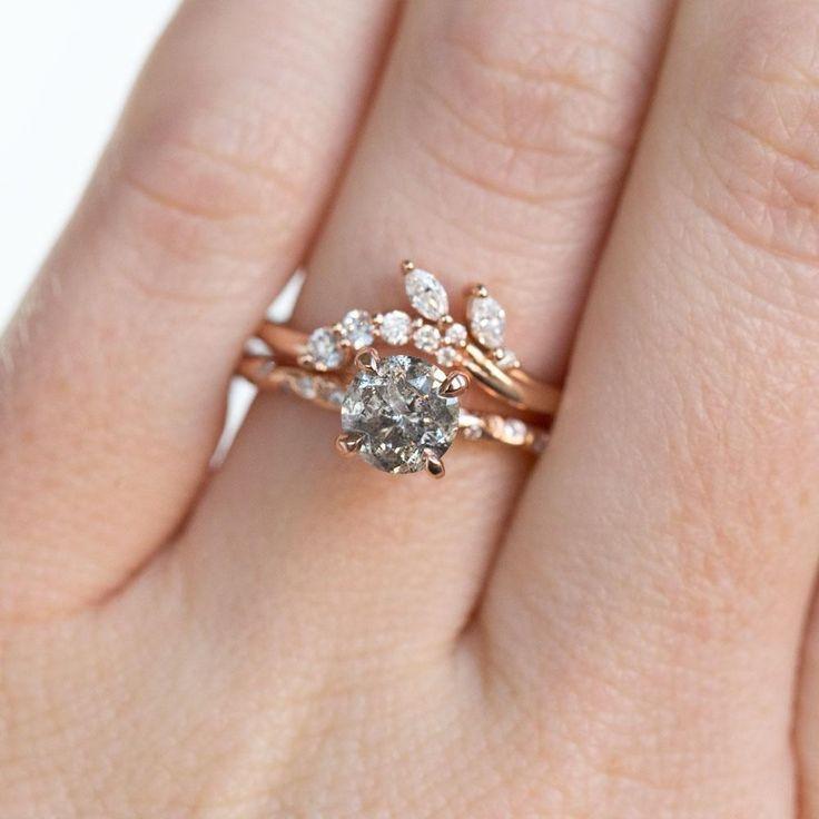 Elegant Diamond Contour Wedding Band – Women's Marquise Diamond Curved Weddi…