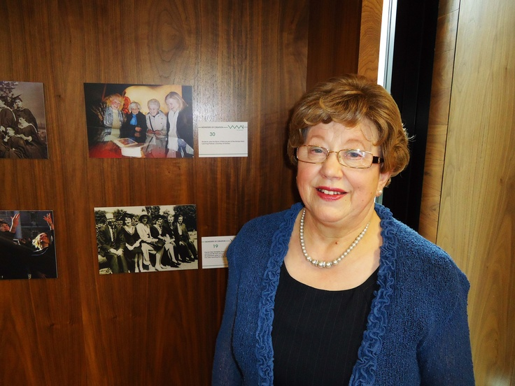 Carmel Heneghan and her photograph (bottom)