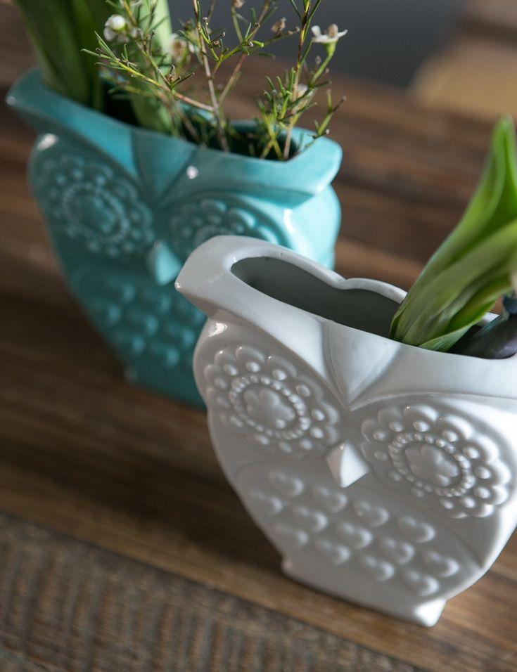 Retro Owl Vase  <3