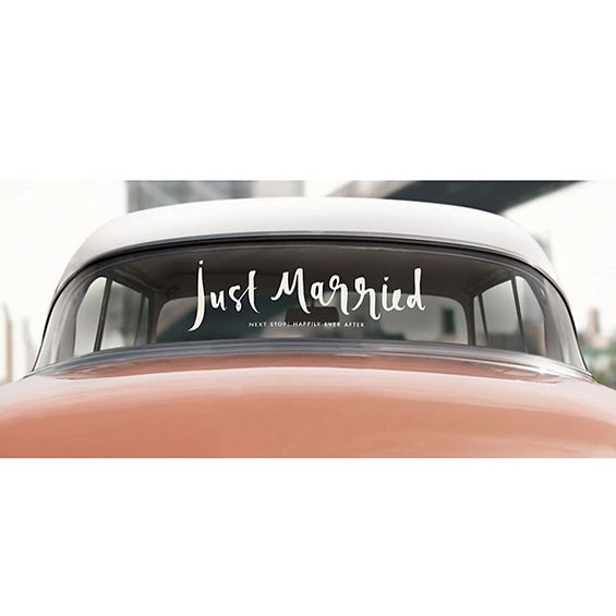 Kate Spade New York 'Just Married' Wedding Car Decal Sticker