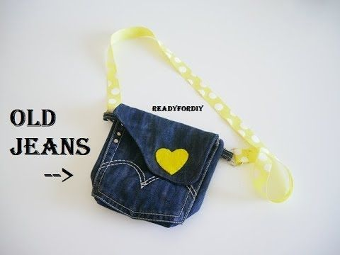 c54b8bf84c2b DIY Jeans Purse Bag Using Old Jeans - Tutorial - YouTube #pursesused ...