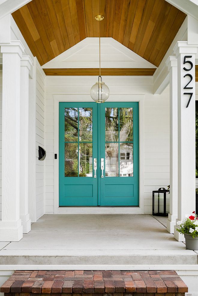 Blue Spa By Benjamin Moore Best Turquoise Front Door Paint Color Turquoisefrontdoor Paintcolor Bluespabybenjaminmoore