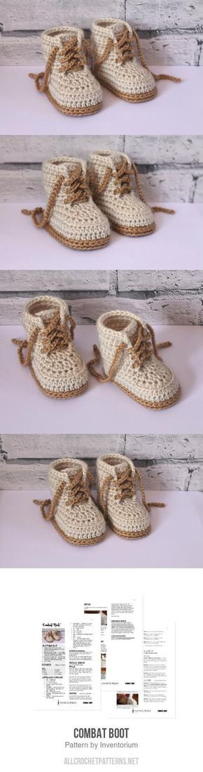 Combat Boot crochet pattern