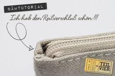Tutorial: Reißverschluß einnähen ohne Knubbel am Rand {Teil 4} - Stich und Faden - DIY, Nähen, Embird, Stickdatei | Die schönen Dinge im Leb...